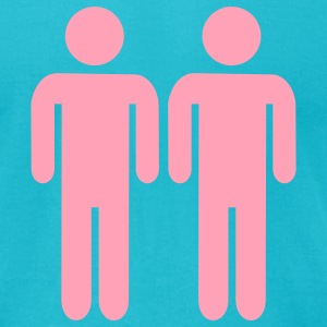 Turquoise Gay T-Shirts - Men's T-Shirt by American Apparel