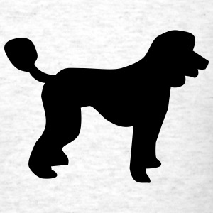 Light oxford Poodle - Dog T-Shirts - Men's T-Shirt