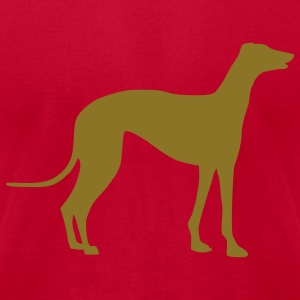 Brown Greyhound - Dog T-Shirts - Men's T-Shirt by American Apparel