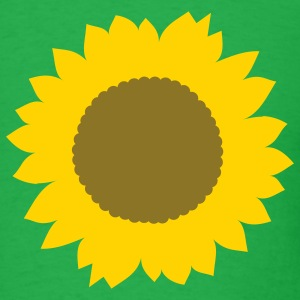 Bright green Sunflower T-Shirts - Men's T-Shirt