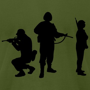 Olive Soldiers T-Shirts - Men's T-Shirt by American Apparel