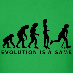 Bright green evolution_hockey_woman_b_1c T-Shirts - Men's T-Shirt