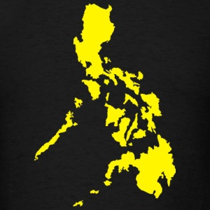 Men's Standard T-Shirt with Yellow Philippine Map - Men's T-Shirt