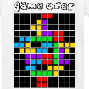White tetris_game_over5 Kids' Shirts - Kids' T-Shirt
