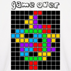 White tetris_game_over5 Hoodies - Men's Hoodie