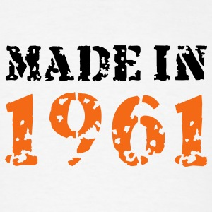 White Made in 1961 T-Shirts - Men's T-Shirt