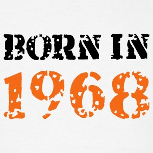White Born in 1968 T-Shirts - Men's T-Shirt