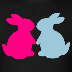 Black bunnies in love bunny rabbit lovers T-Shirts - Men's T-Shirt