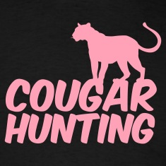 Black COUGAR HUNTING T-Shirts