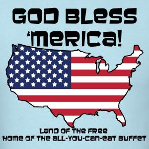 God Bless 'Merica! - Mens - Men's T-Shirt