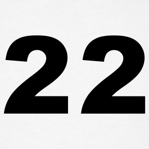 White Number - 22 - Twenty-Two T-Shirts - Men's T-Shirt