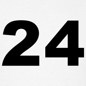 White Number - 24 - Twenty-Four T-Shirts - Men's T-Shirt