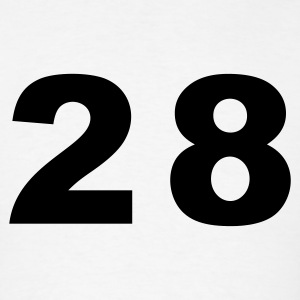 White Number - 28 - Twenty-Eight T-Shirts - Men's T-Shirt