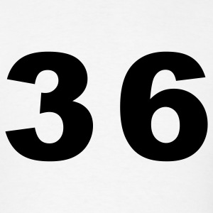 White Number - 36 - Thirty Six T-Shirts - Men's T-Shirt