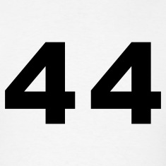 White Number - 44 - Forty Four T-Shirts