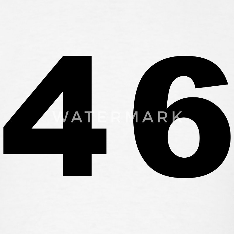 White Number - 46 - Forty Six T-Shirts - Men's T-Shirt
