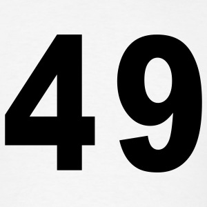 White Number - 49 - Forty Nine T-Shirts - Men's T-Shirt