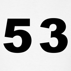 White Number - 53 - Fifty Three T-Shirts