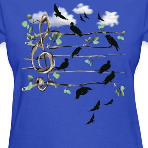 Musical Note Birds - Women's T-Shirt