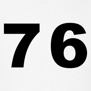 White Number - 76 - Seventy Six T-Shirts - Men's T-Shirt