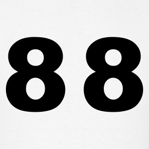White Number - 88 - Eighty Eight T-Shirts - Men's T-Shirt