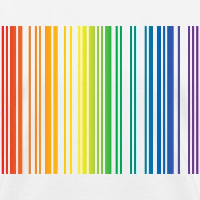 Barcode rainbow. Woman s t shirt