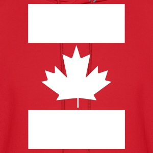 Red Vertical Canada Flag Hoodies - Men's Hoodie