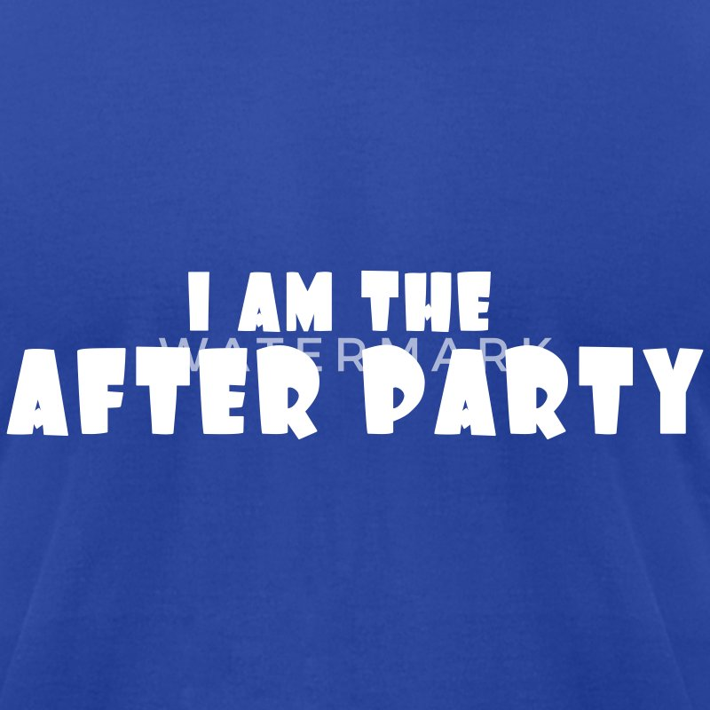 Royal blue I AM The After Party T-Shirts - Men's T-Shirt by American Apparel