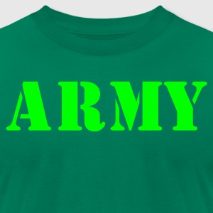 Kelly green army in stencil T-Shirts - Men's T-Shirt by American Apparel