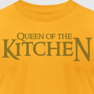 Gold QUEEN OF THE KITCHEN T-Shirts - Men's T-Shirt by American Apparel