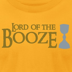 Gold lord of the booze with a chalice T-Shirts - Men's T-Shirt by American Apparel