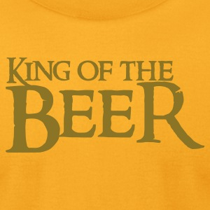Gold king of the beer T-Shirts - Men's T-Shirt by American Apparel