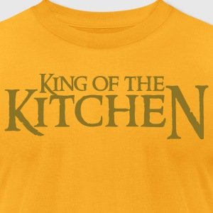 Gold king of the kitchen T-Shirts - Men's T-Shirt by American Apparel