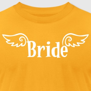 Gold bride logo with wings for a hens party T-Shirts - Men's T-Shirt by American Apparel