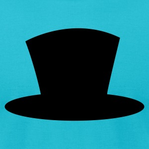 Turquoise top hat shape magician magic T-Shirts - Men's T-Shirt by American Apparel