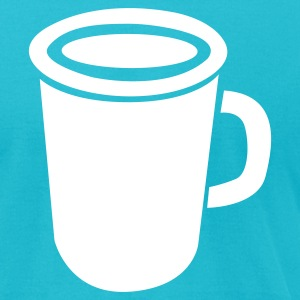 Turquoise green coffee cup T-Shirts - Men's T-Shirt by American Apparel