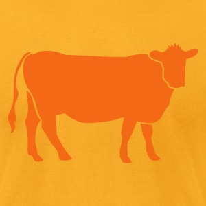 Gold COW BEEF one color T-Shirts - Men's T-Shirt by American Apparel