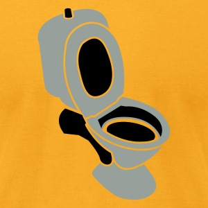 Gold TOILET seat dunny lavatory JOHN  T-Shirts - Men's T-Shirt by American Apparel