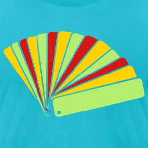 Turquoise DESIGN DESIGNER SWATCH BOOKLET T-Shirts - Men's T-Shirt by American Apparel