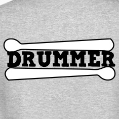 Heather grey drummer drums drum with drumsticks Long Sleeve Shirts