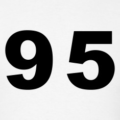 White Number - 95 - Ninety Five T-Shirts