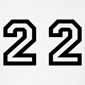 White Number - 22 - Twenty Two T-Shirts - Men's T-Shirt
