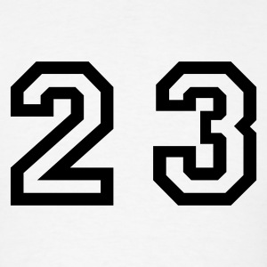 White Number - 23 - Twenty Three T-Shirts - Men's T-Shirt