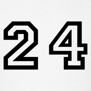 White Number - 24 - Twenty Four T-Shirts - Men's T-Shirt