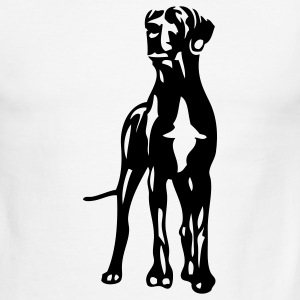 White/black dogs T-Shirts - Men's Ringer T-Shirt