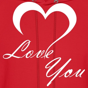 Red Love You Hoodies - Men's Hoodie