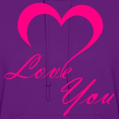Light pink Love You Hoodies