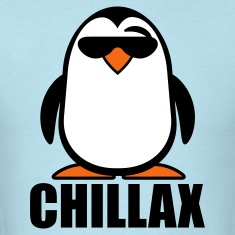 Sky blue Chillax Penguin T-Shirts