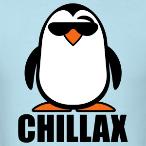 Sky blue Chillax Penguin T-Shirts - Men's T-Shirt