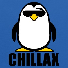 Royal blue Chillax Penguin Sweatshirts
